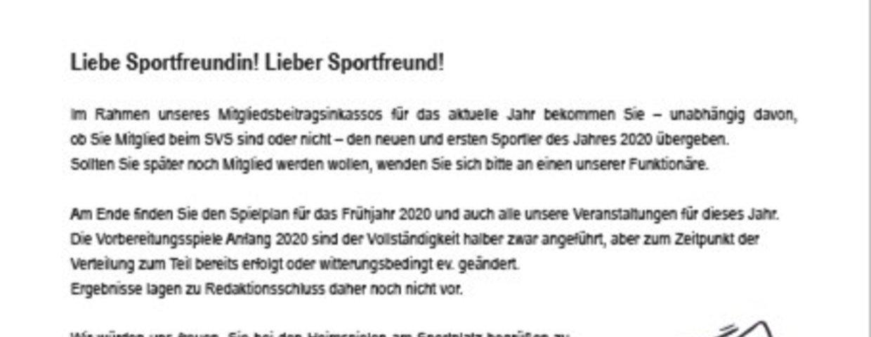 Der Sportler Ausgabe 1 2020