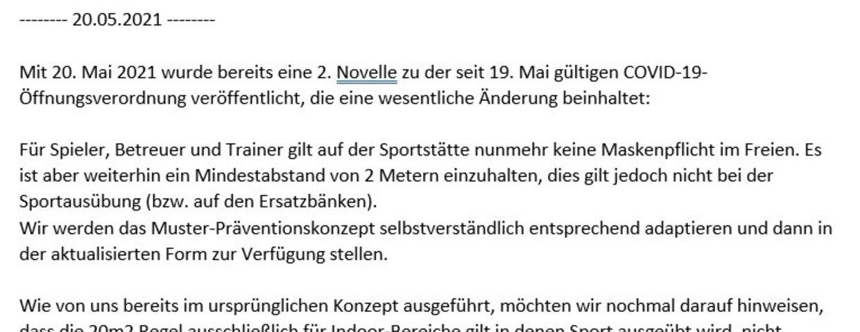 Aktuelle News Jugendleitung - 20.05.2021