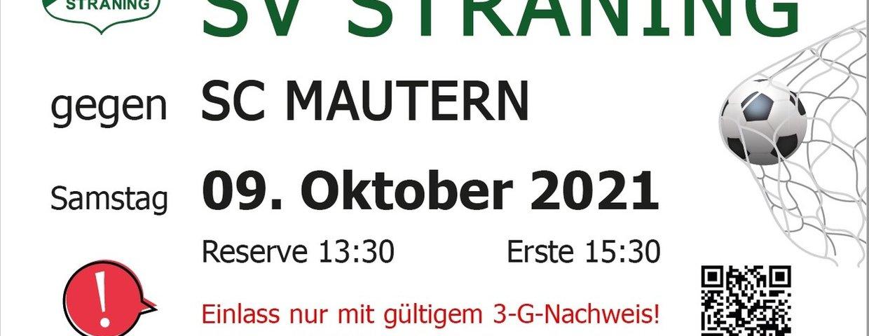 Straning - Mautern, 09.10.2021, 15.30 Uhr